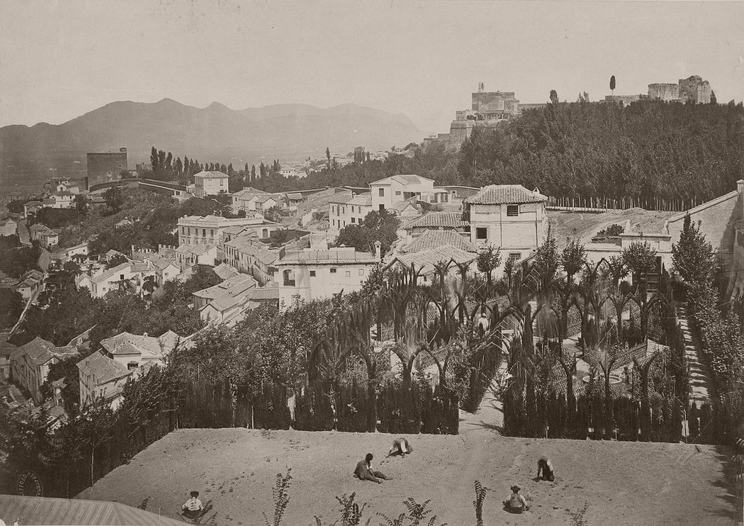 Alameda of the Martires, property of Senator don Carlos Calderon, Granada, 1862
