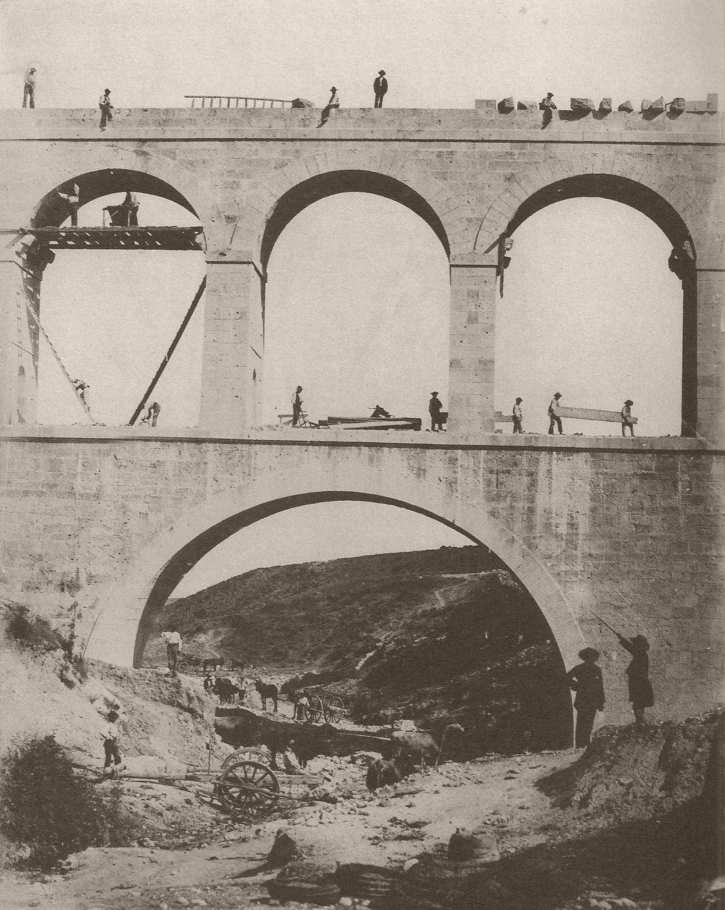 Obras del Canal de Isabel II: Acueducto de la Sima, Charles Clifford, 1855.