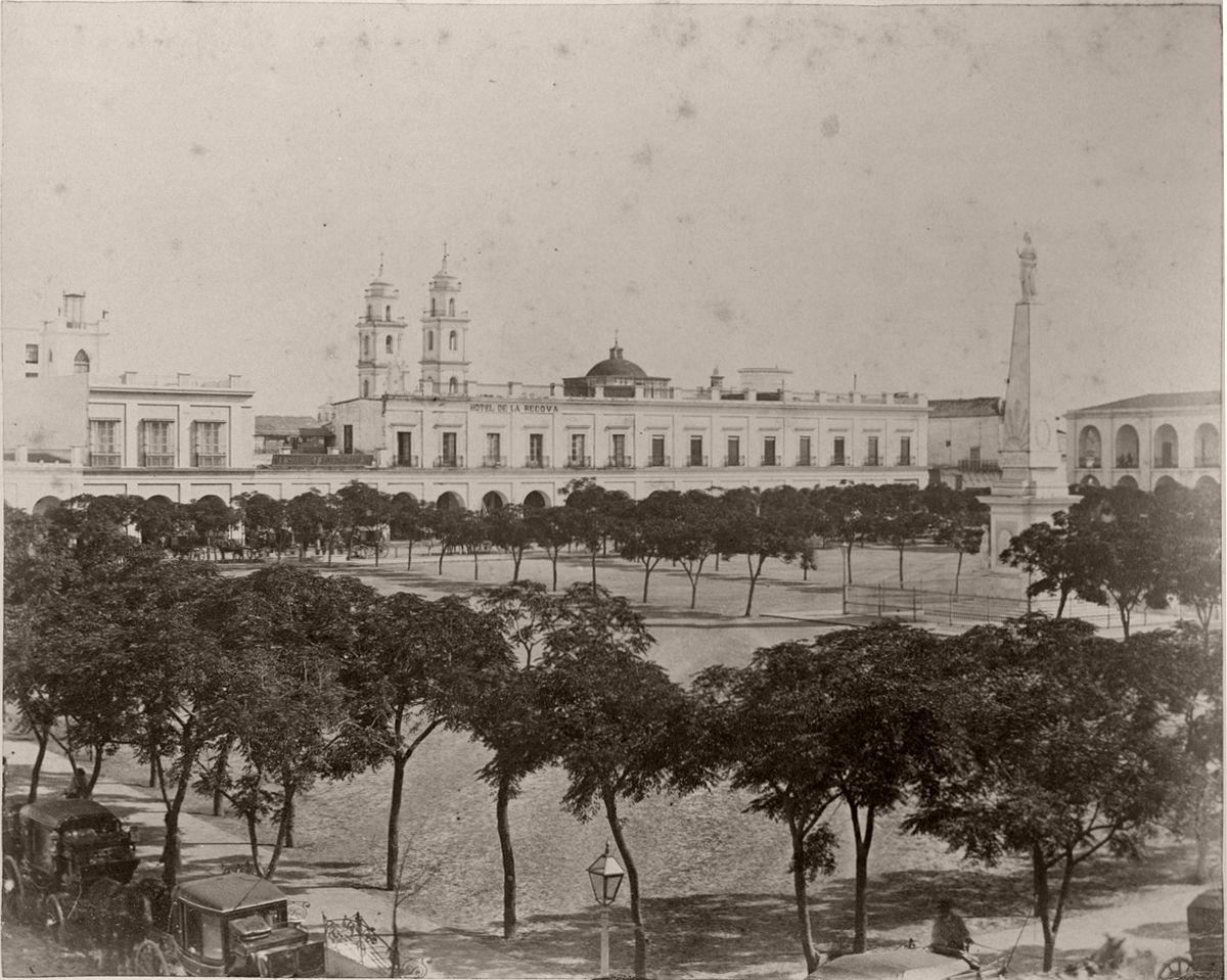 Plaza de la Victoria y Recova Nueva (Gonnet, 1864)