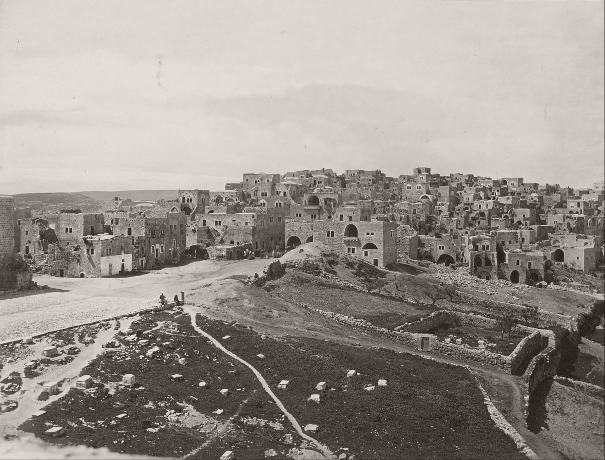 Bethlehem, from the Latin Convent, 1858.