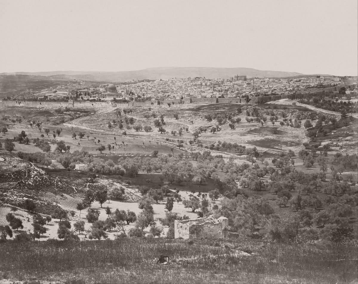 Jerusalem from the Mount of Olives, 1858.