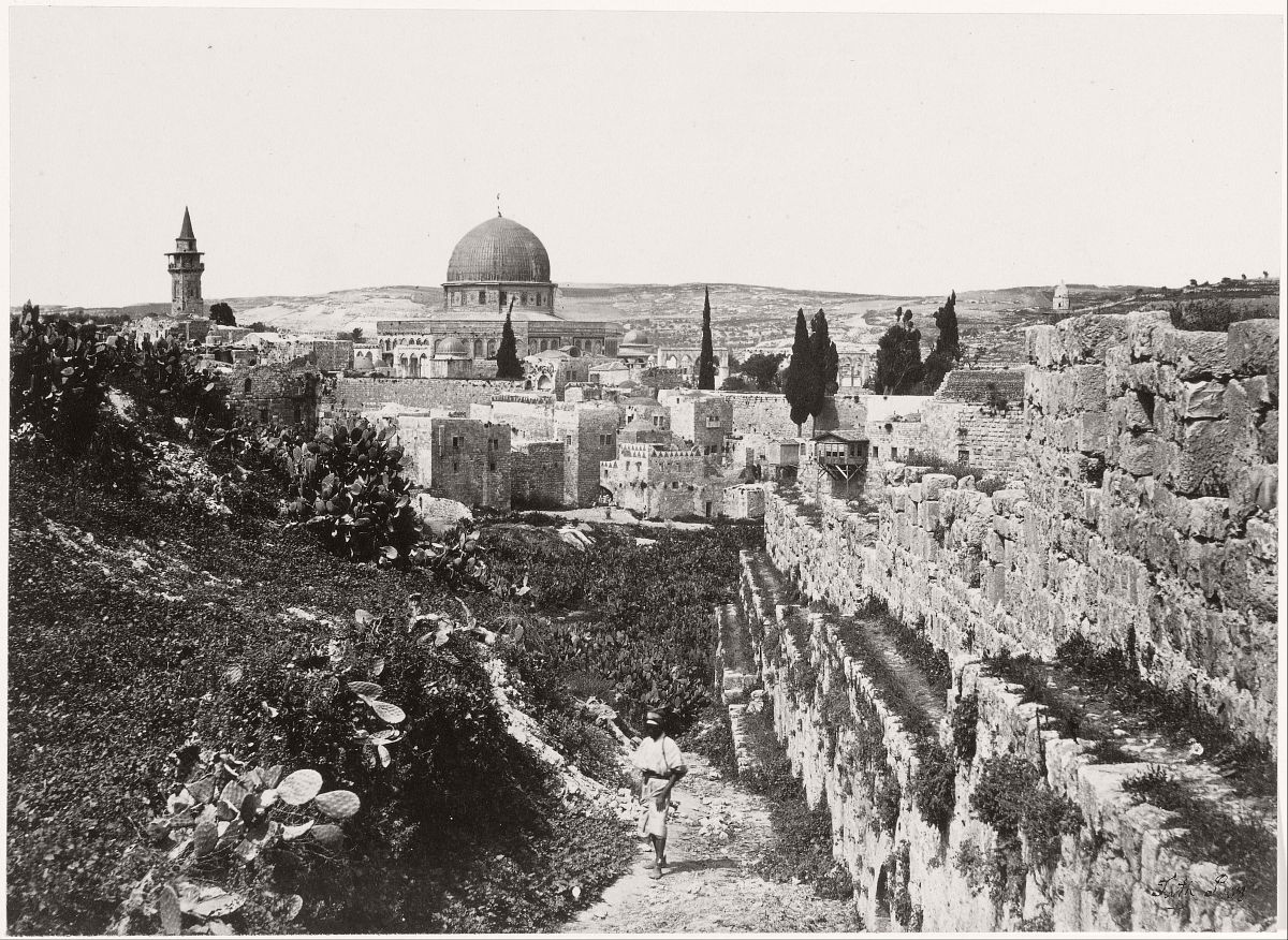 The Site of the Temple Jerusalem from Mount Zion, 1860.