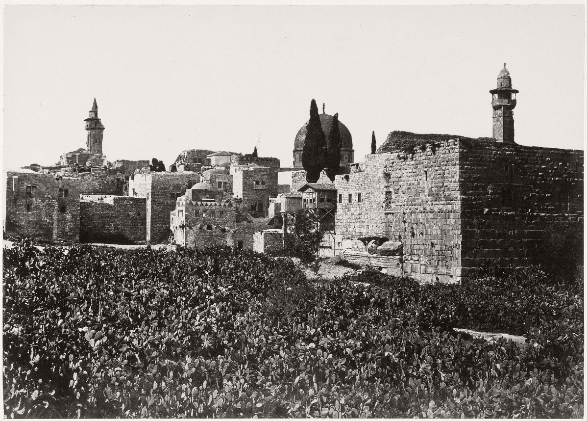 Waste Places in Jerusalem between Mount Zion and the Holy Temple, 1860.