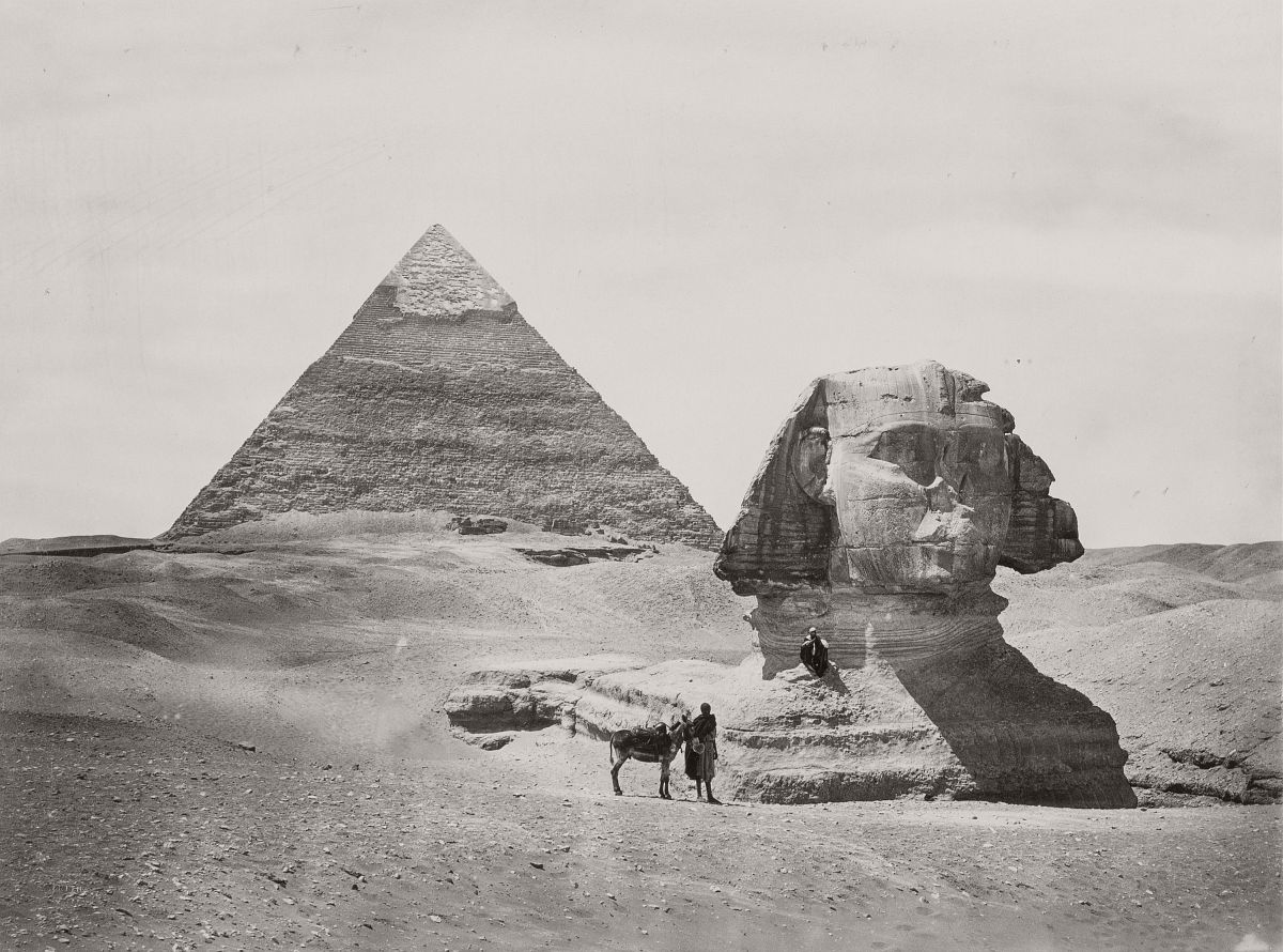 Pyramid & Sphinx, 1858.
