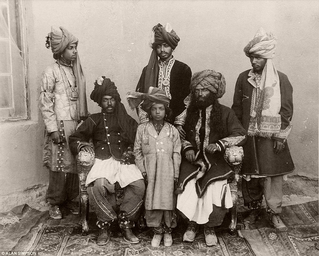 His Highness the Khan of Kalat and Sons, by Fred Bremner.