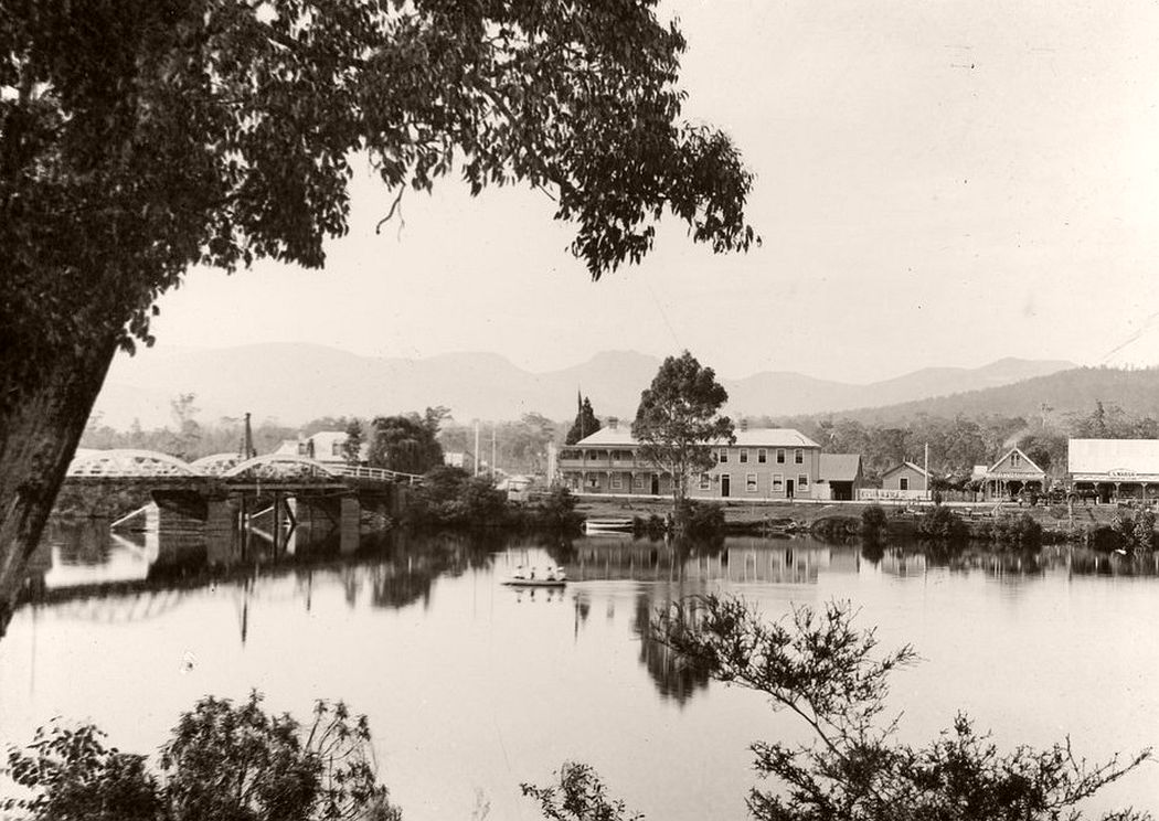 A view of Huonville, sometime between 1900-1949.