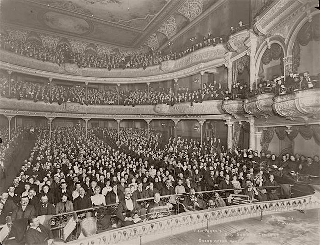Ted Mark's Big Sunday Concert, Grand Opera House, New York, circa 1900.