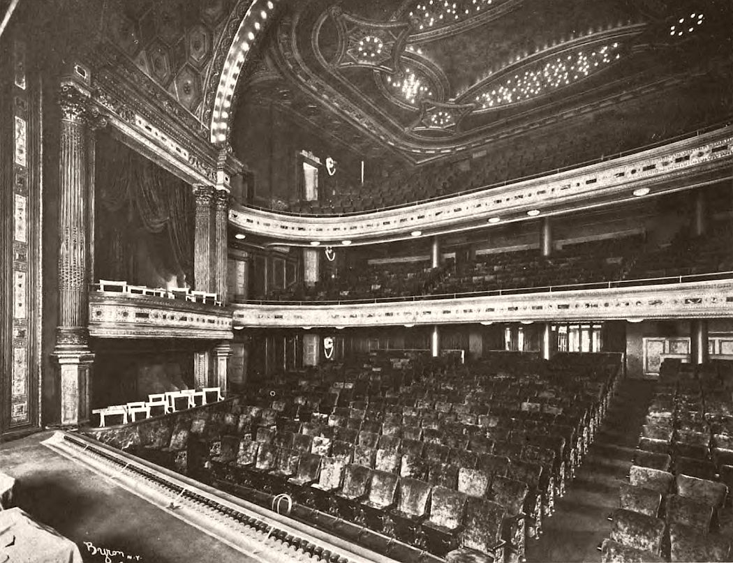 Hudson Theatre auditorium, 1904.