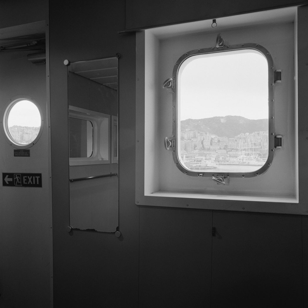 Massimiliano Camellini: Windows, Hanjin Yantian, 02-05-2014, Genova, Terminal Sech, Courtesy of BAG GALLERY