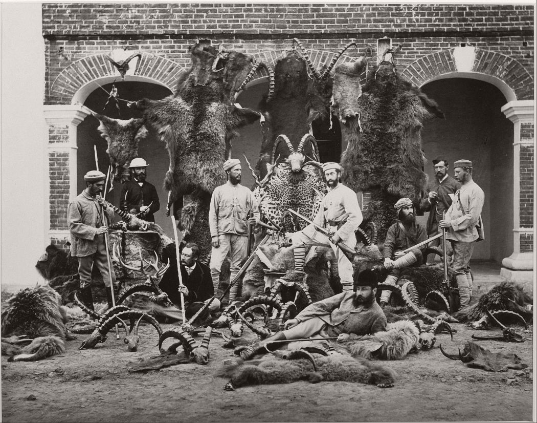 Hunters and Trophies, India, 1860s.