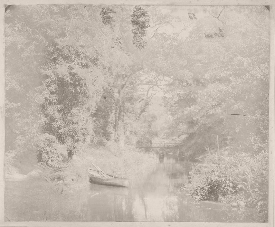 End of the Upper Lake, Penllergare, 1855