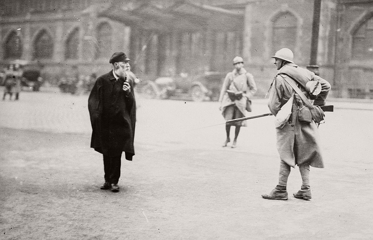 French patrol in occupied Essen, Germany. # Library of Congress