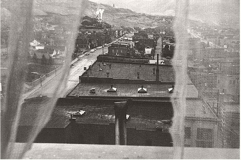FRANK, Robert (b. 1924), View from Hotel Room, Butte, Montana, 1955