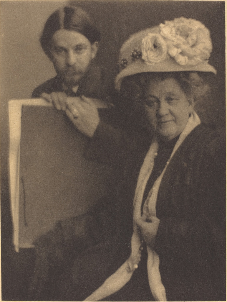 Alvin Langdon Coburn and His Mother, ca. 1909