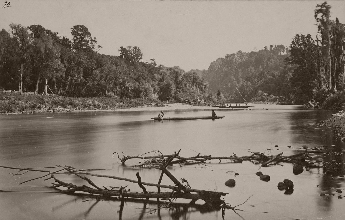 Makaka River, Forty Mile Bush Road, 1870s.