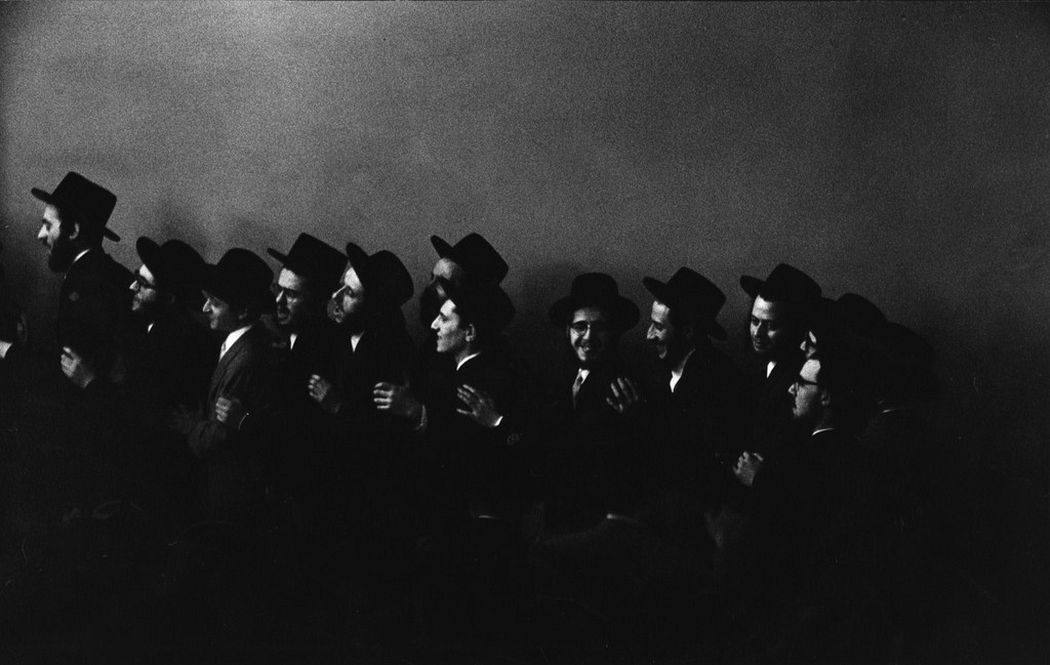 Hasidic Wedding, the Men Dance in One Room, the Women in Another, 1954