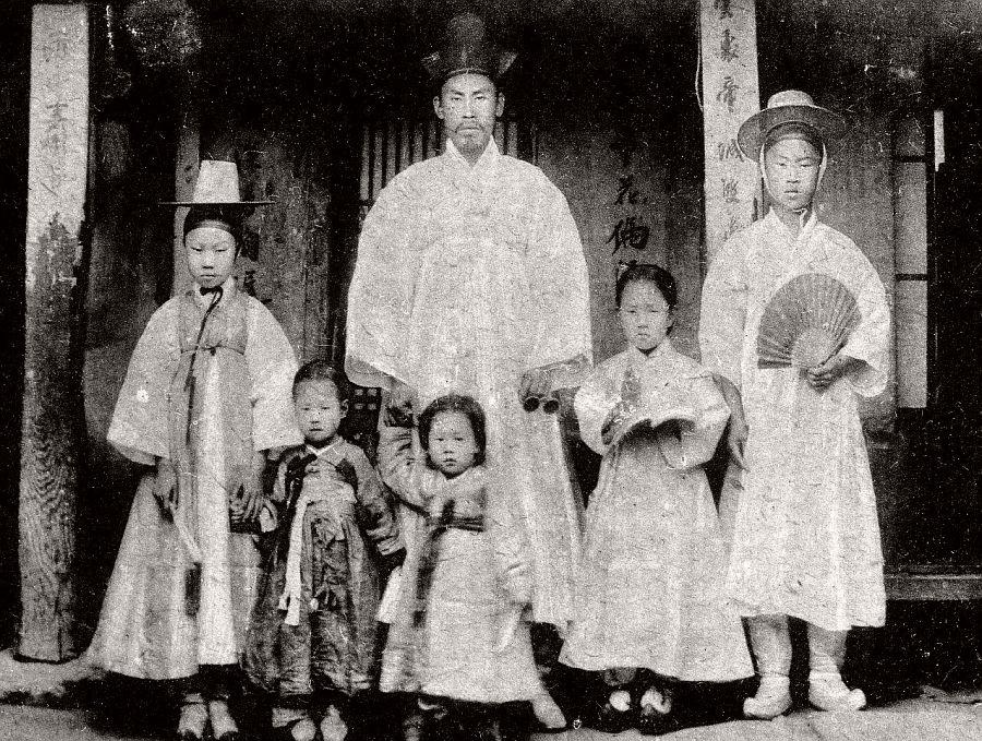 High class family, ca. 1900s