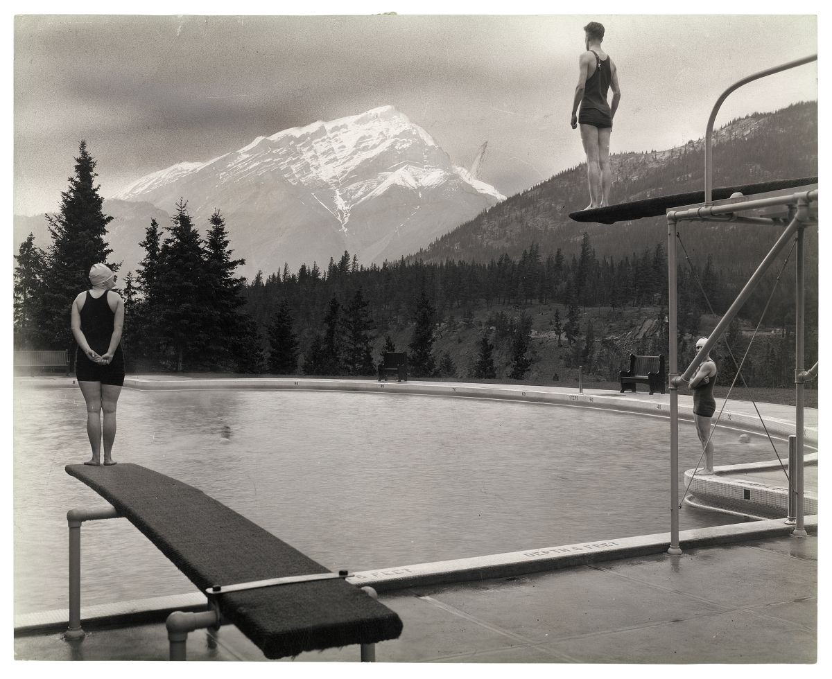 Canadian Pacific Railway, Untitled [Swimming pool at Banff Springs Hotel, Alberta], September 1928, gelatin silver print. Photo courtesy of the Rudolph P. Bratty Family Collection, Ryerson Image Centre.