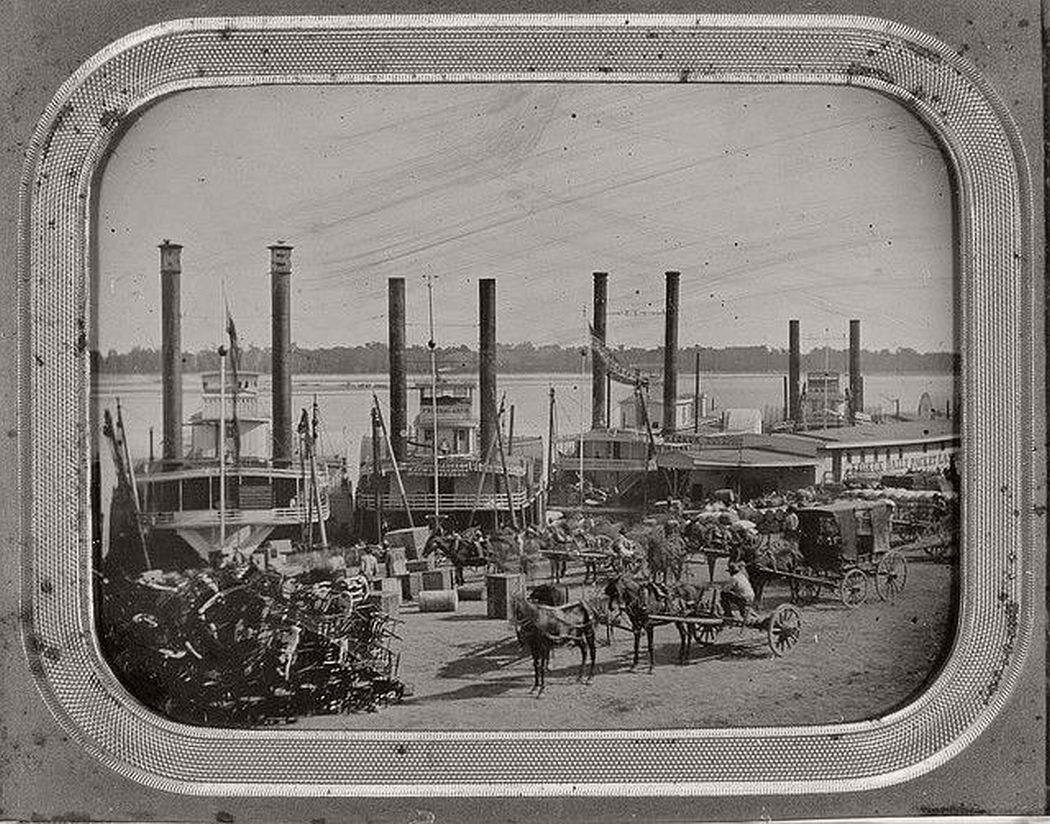 St. Louis levee, 1853