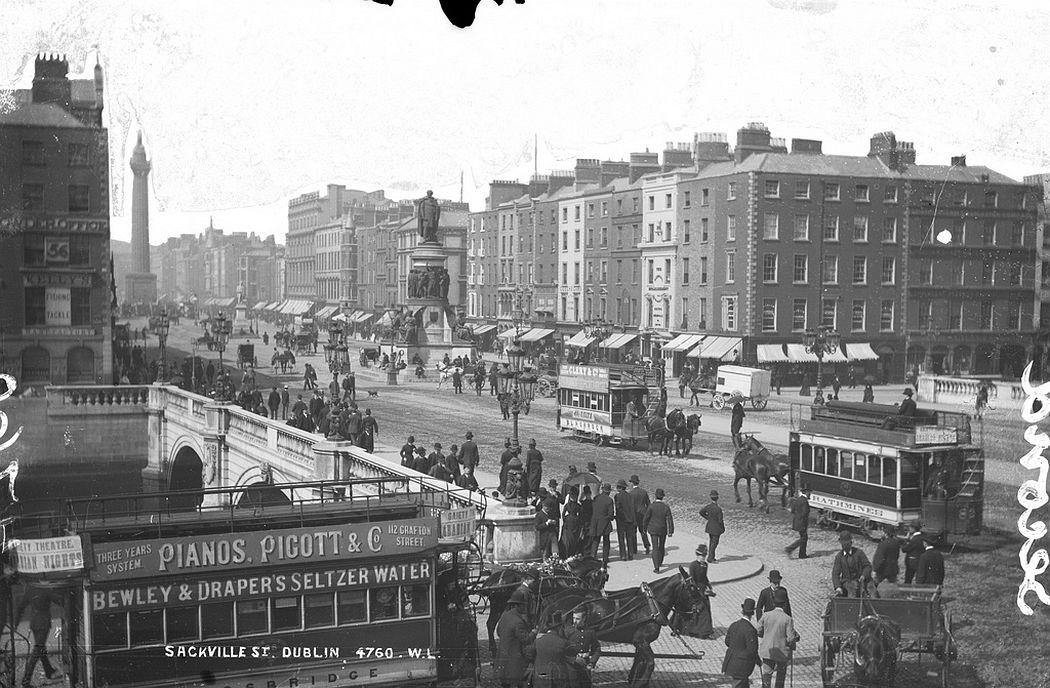Sackville Street in Dublin, 1890
