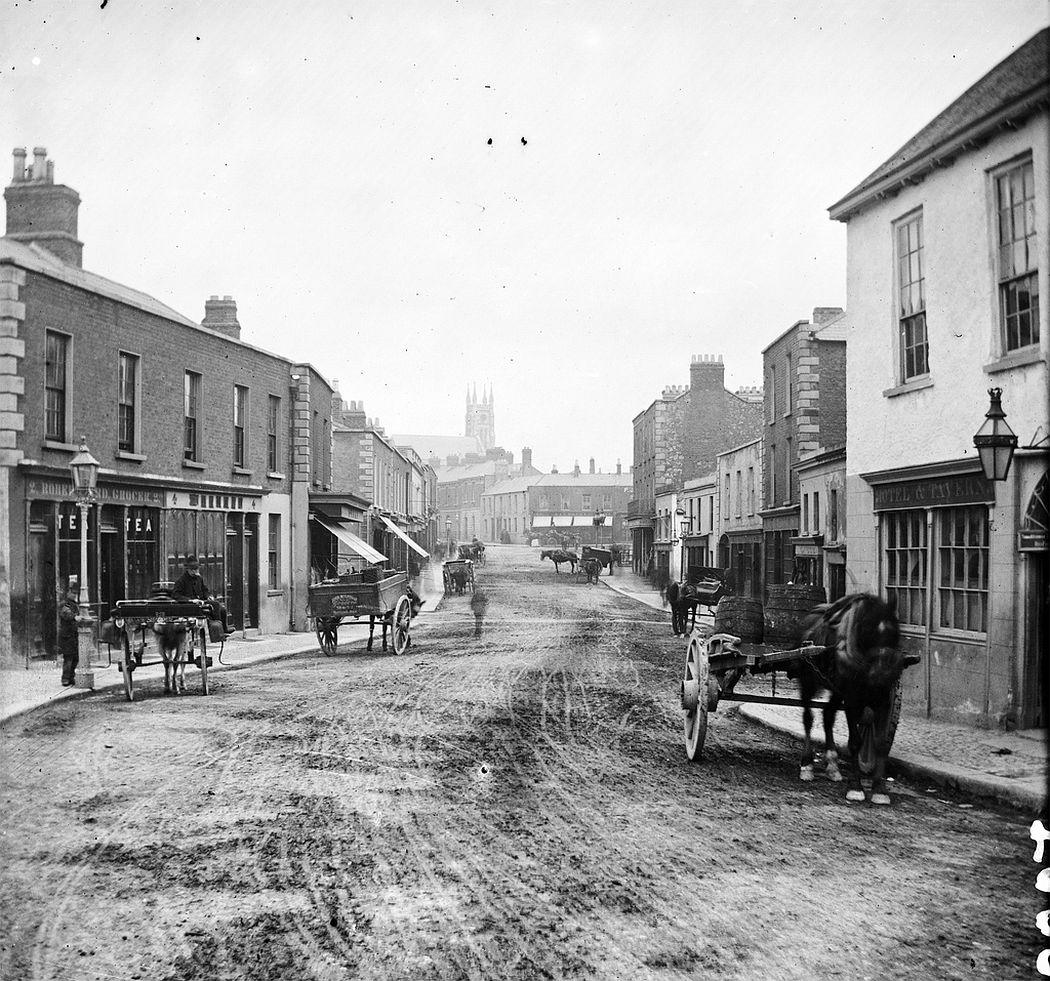 Main Street in Blackrock, Dublin, 1875