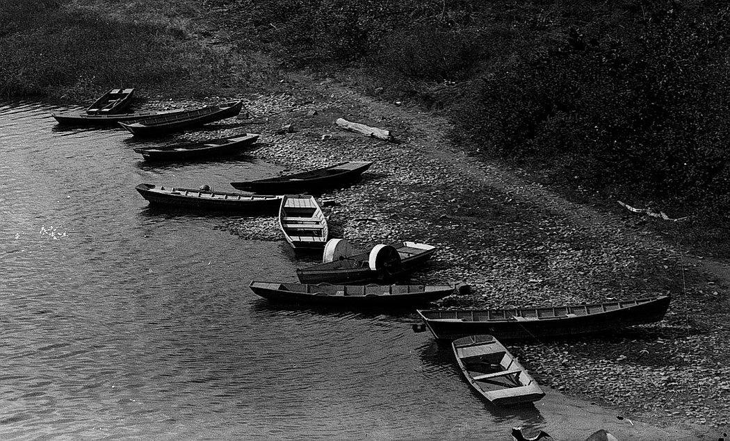 Boats on the Delaware River in Trenton