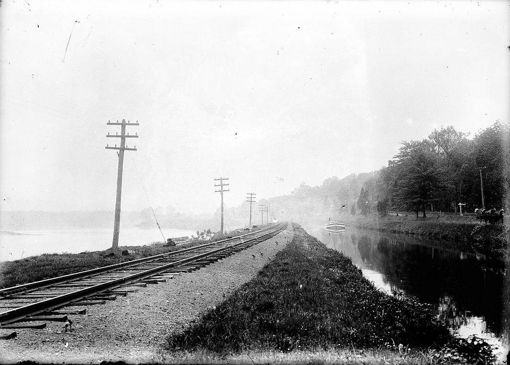 Canal and rail road in Titusville