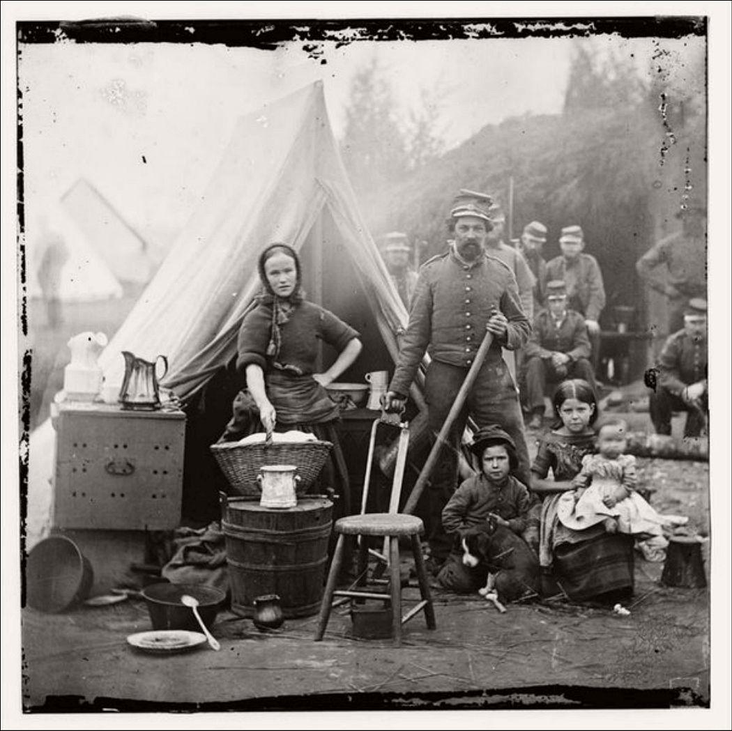 A Civil War Camp near Washington, DC in 1862