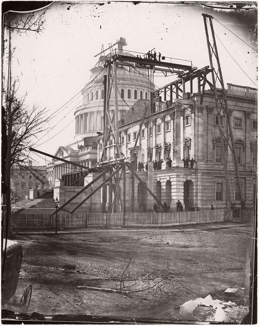 The Capitol building under construction in Washington, DC, ca. 1863