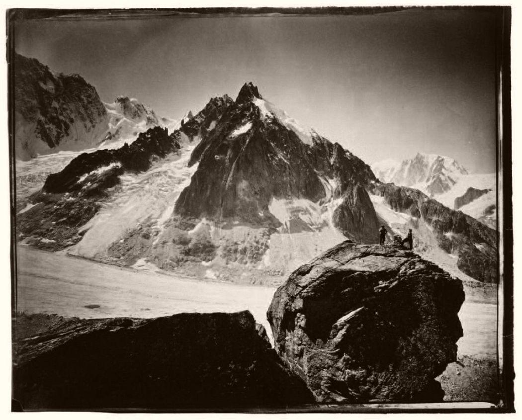 Massif du Mont-Blanc, La Pierre de Béranger, Expédition de 1875 © Adolphe Braun