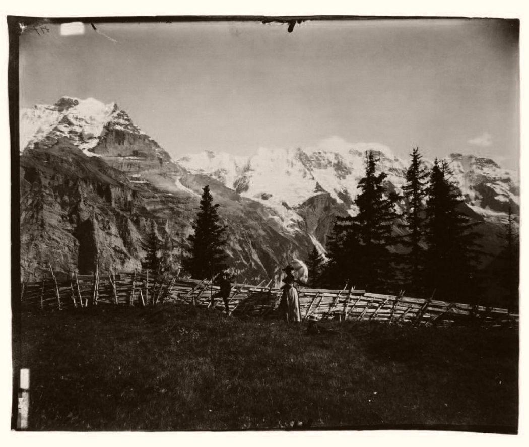 Glacier du Rosegg, années 1870 © Adolphe Braun