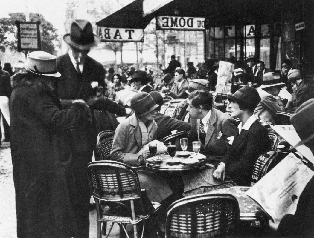 French cafe society, Paris, 1920's.