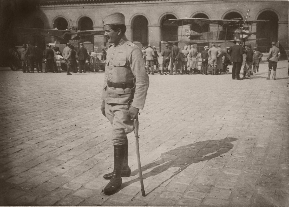 1915. Serbian wounded soldier.