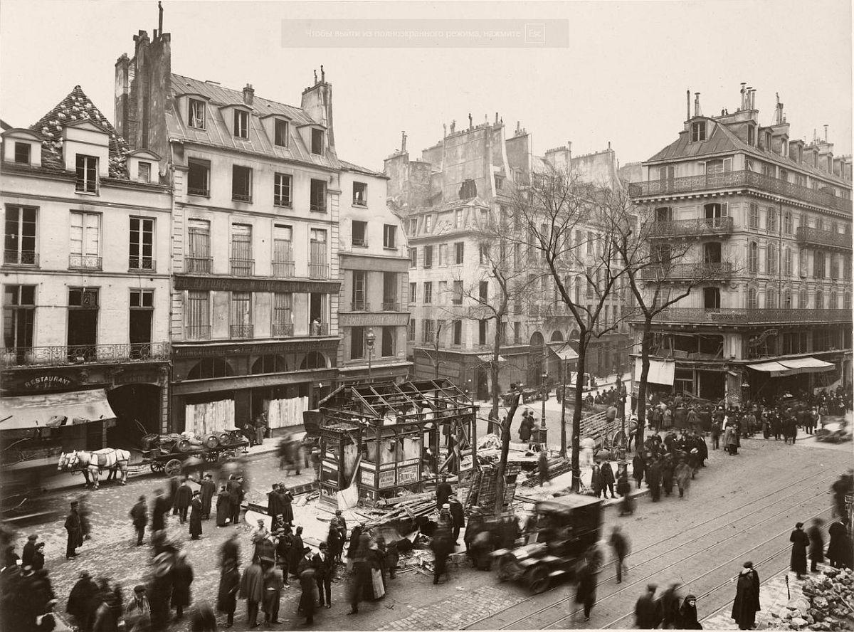 1918. The devastation in the Saint-Paul.