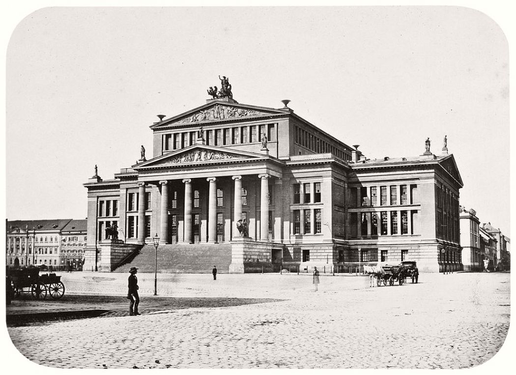 Theater at Gendarmenmarkt, around 1856