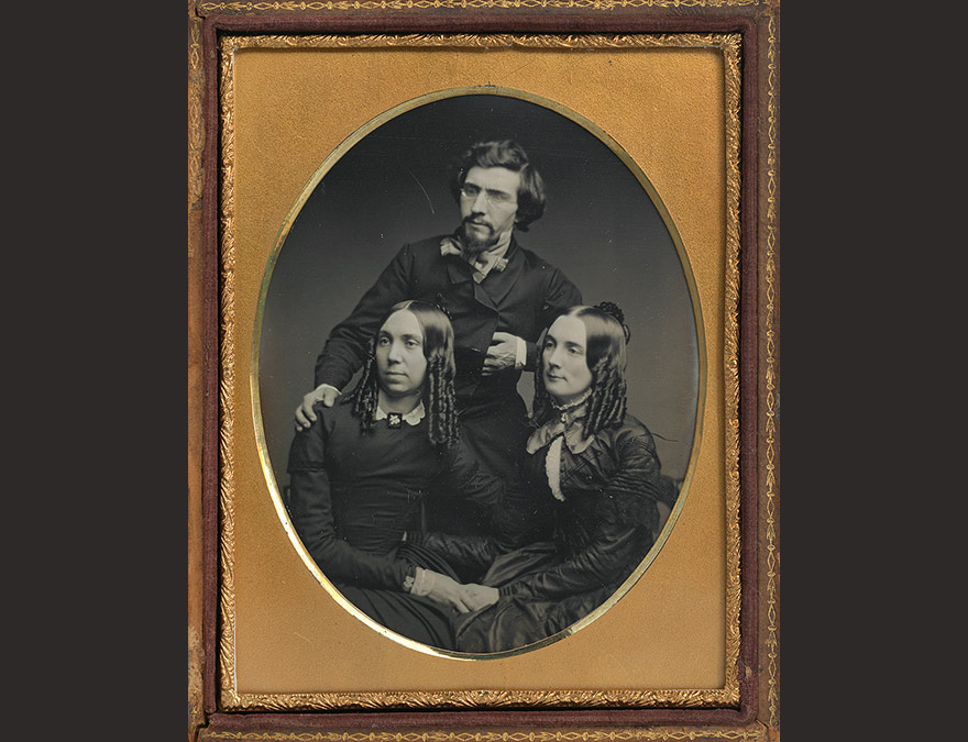 Mathew Brady, Juliet Brady and Ellen Brady Haggerty | c. 1851, quarter-plate daguerreotype