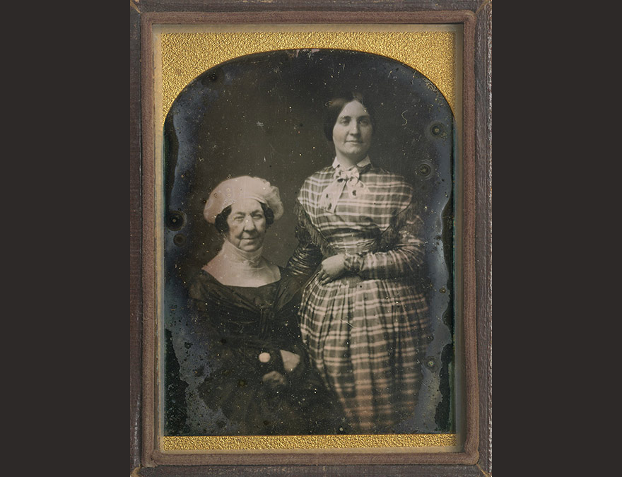 Dolley Madison and Anna Payne | c. 1848, quarter-plate daguerreotype | National Portrait Gallery, Smithsonian Institution; gift of Dortha Louise Dobson Adem Rogus, direct descendant of Dolley Madison