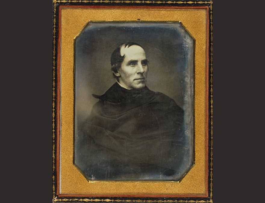 Thomas Cole | c. 1845, half-plate daguerreotype on silver-coated copper plate | National Portrait Gallery, Smithsonian Institution; gift of Edith Cole Silberstein