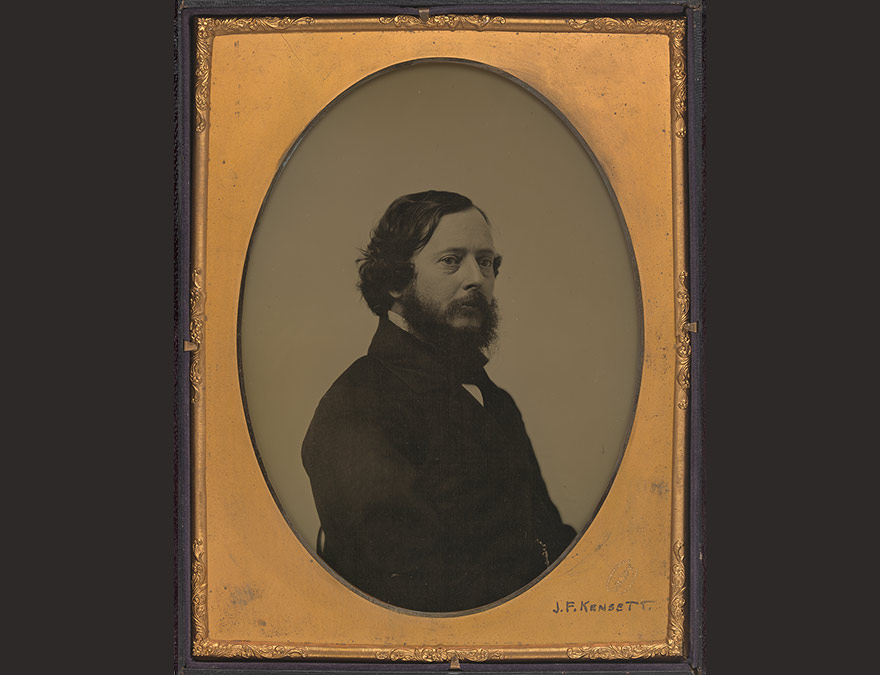 John Frederick Kensett | c. 1856, whole-plate ambrotype