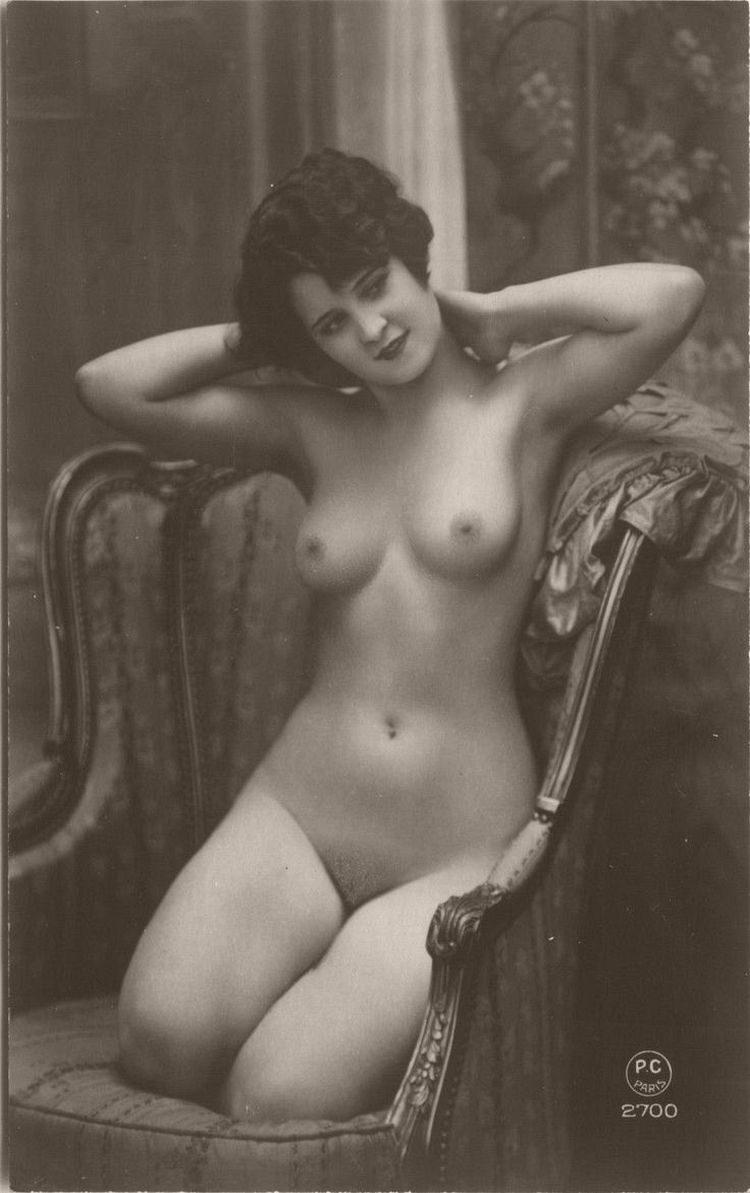 Vintage Early 20Th Century Bw Nudes  Monovisions-9283