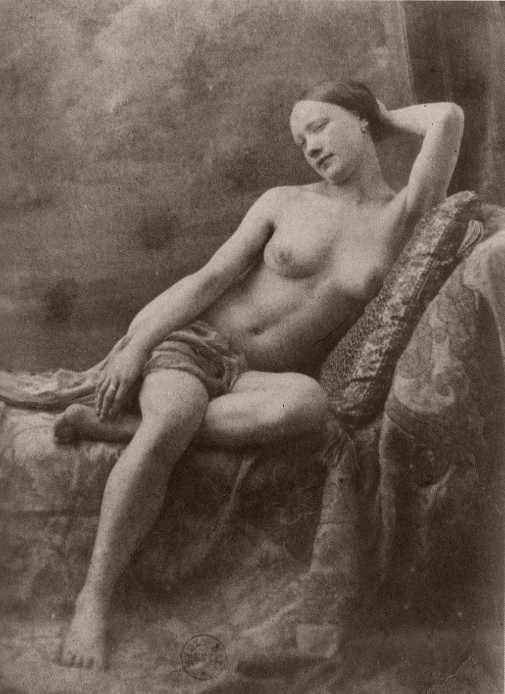 Photograph by Jean Louis Marie Eugène Durieu, part of a series made with Eugène Delacroix