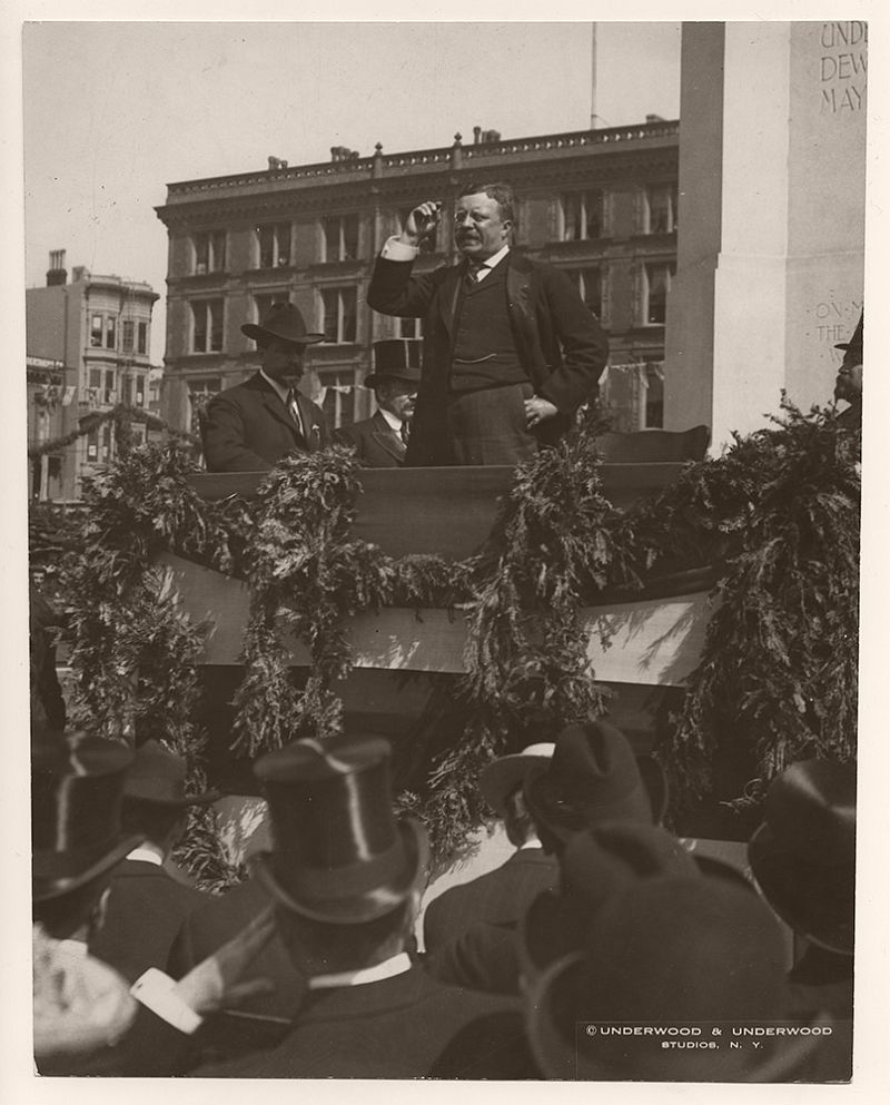 On May 19, 1903, President Theodore Roosevelt delivered a speech in Truckee, California.