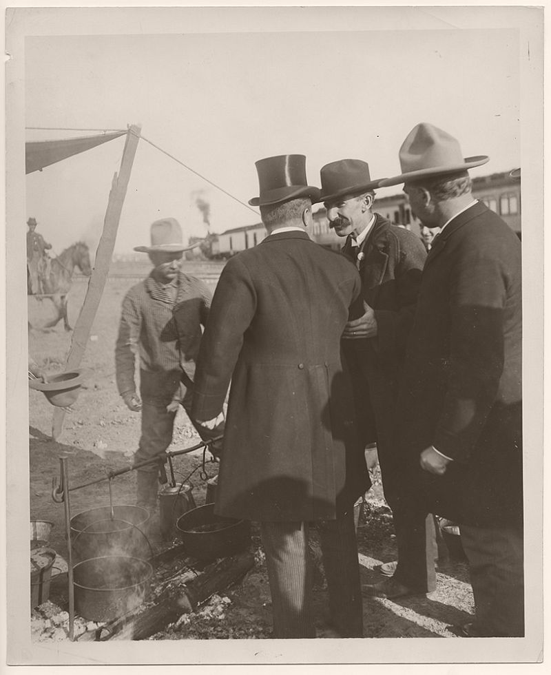 On May 4th, 1903, Theodore Roosevelt had breakfast with a group of cowboys in Hugo, Colorado.