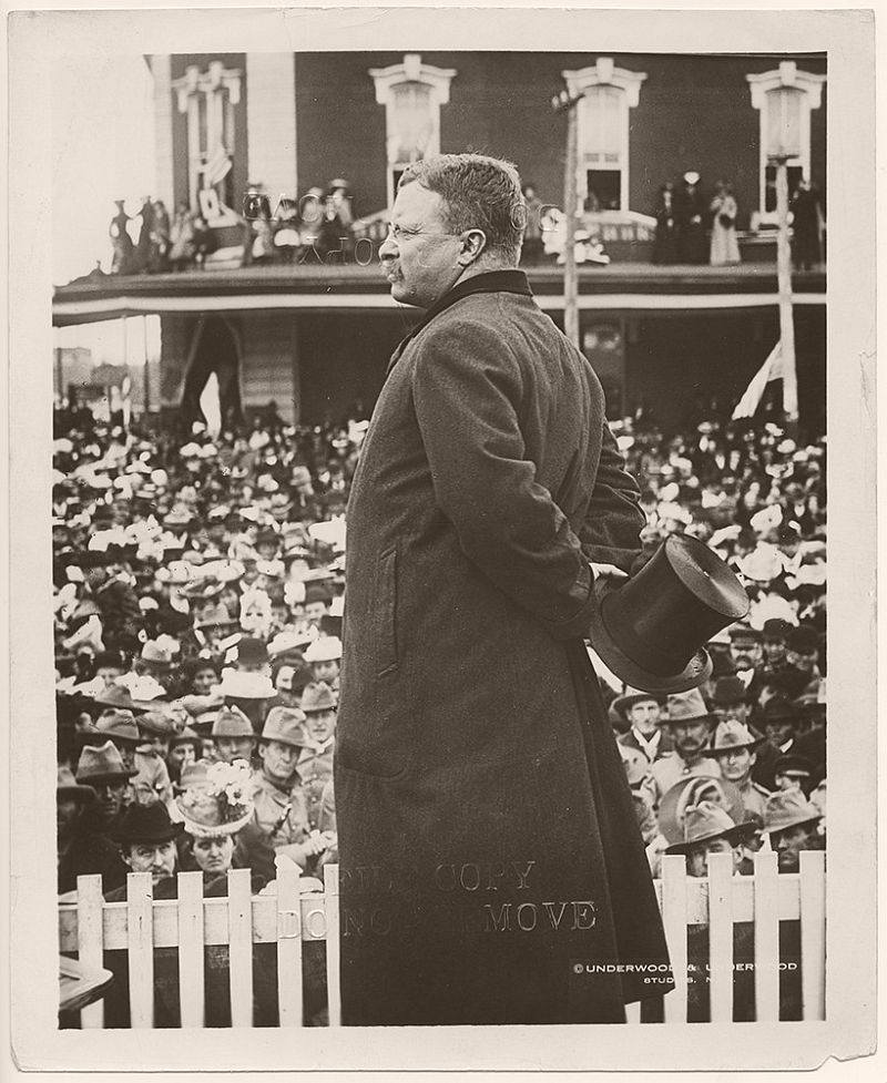 President Theodore Roosevelt in Abilene, Kansas. May 2, 1903.