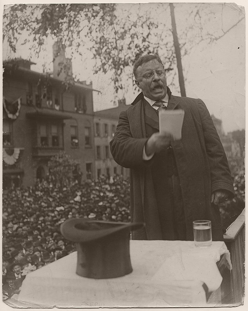 On October 4, 1906, President Theodore Roosevelt delivered a speech at the dedication of the new state capitol building in Harrisburg, Pennsylvania.