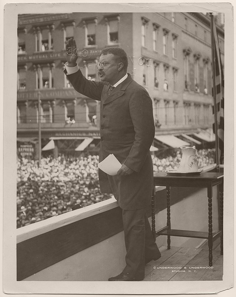 On August 23, 1902, President Theodore Roosevelt gave a speech in Providence, Rhode Island.