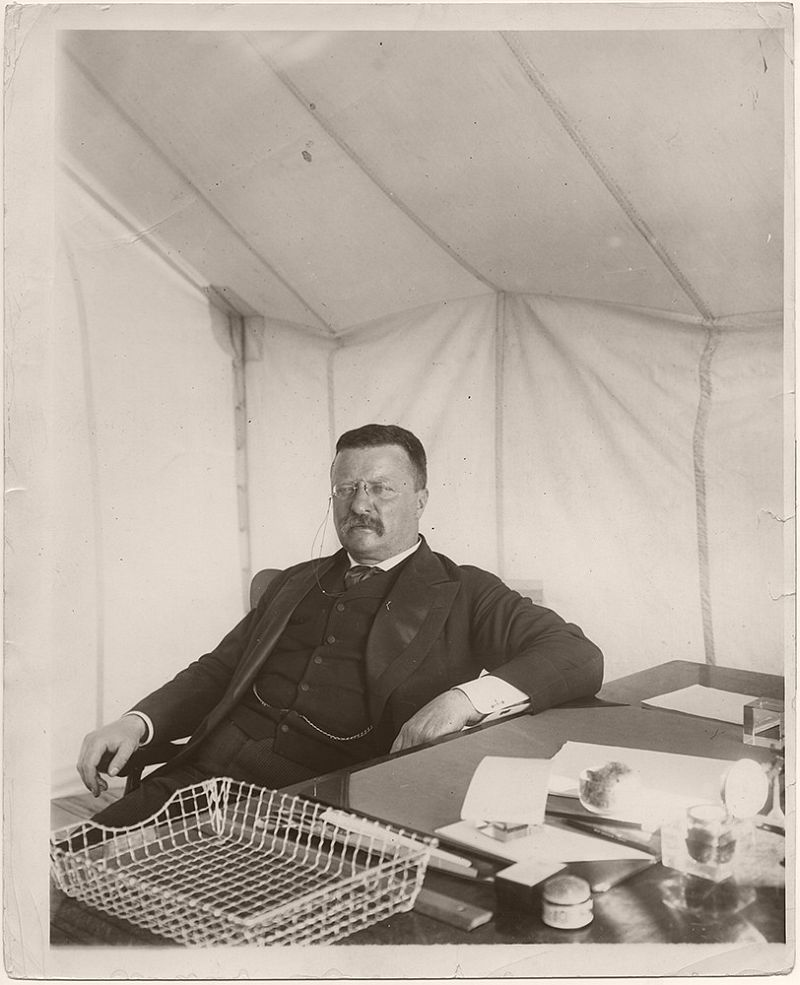 On April 7, 1905, President Theodore Roosevelt delivered a speech at the Alamo in San Antonio, Texas.