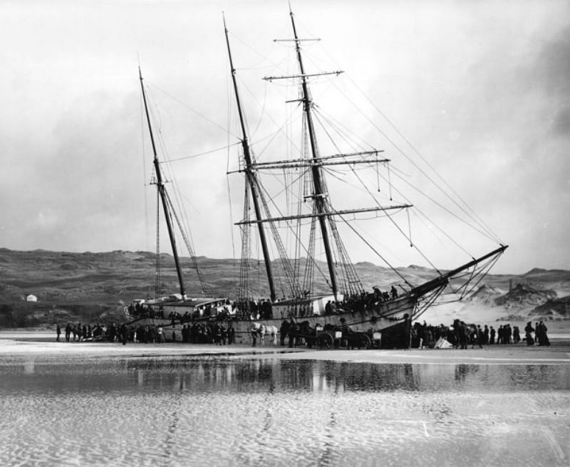 The Voorspoed, Perranporth, 1901, travelling from Cardiff to Bahia.