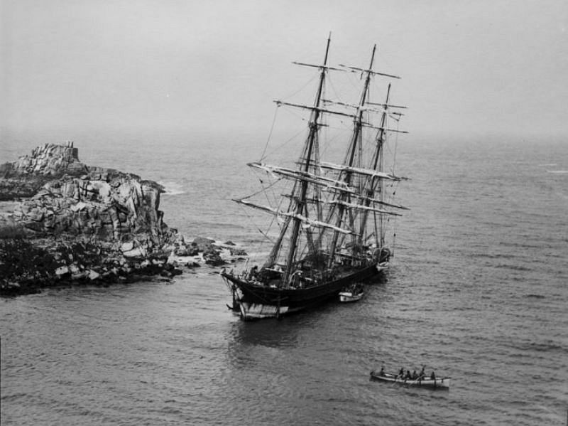 The Horsa, St Martin's, Isles of Scilly, 1893, from New Zealand with mixed cargo.