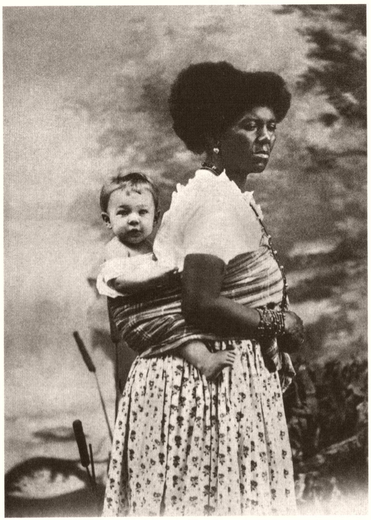 Babá com criança. 1882